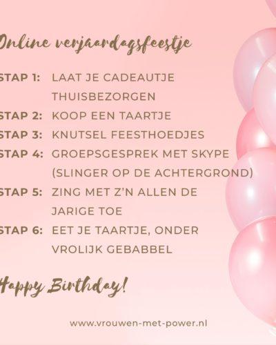 Online verjaardagsfeestje